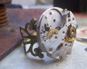 Its Time  ...Another Very Steampunk Ring By Alteredhead On Etsy Unisex Rings Etsy Jewelry Adjustable Band