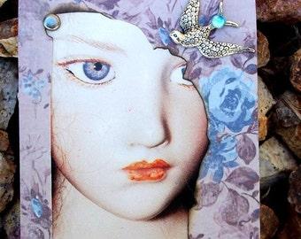 Disillusion Conceptual And Original ACEO Artist Trading Card