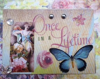 Once In A Lifetime Artist Trading Card ACEO By AlteredHead On Etsy Whimsical Art Etsy Kawaii Kitch Original Handmade USA One Of A Kind