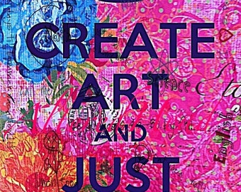 Create Art  Another Altered Artist  Illustration  5x7 Print