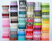 Up to 40 rolls of Japanese Washi Tape Choose Your Colors -NEW PATTERNS check photo 2 and 3 for full list