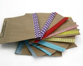 Kraft Envelopes with Washi Paper Tape
