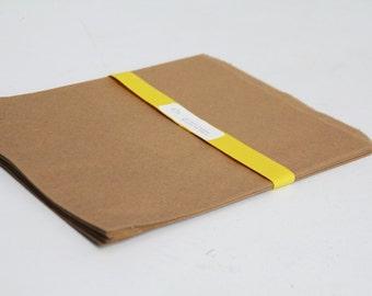 100- 8.5x11 Kraft Paper Bags