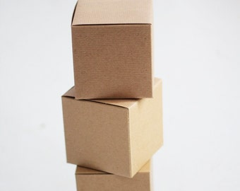Kraft Gift Box Assortment  Lot of 30