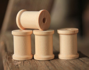30 Natural Wooden Spools 1 3/16 x 7/8   | Sewing Supply | Decorative Spools | Wedding Decor | Rustic Home Decor | Rustic Wedding