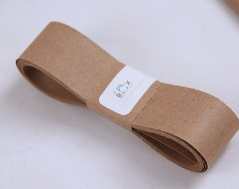 KRAFT 100 Percent Recycled Paper Ribbon 50 Yards- Perfect for Binding or Wrapping