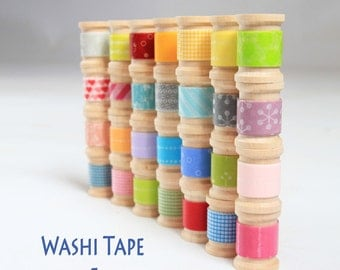 Choose Your Colors Japanese Washi Tape 20ft  get up to 10 Rolls- NEW PATTERNS check photo 2 and 3 for full list