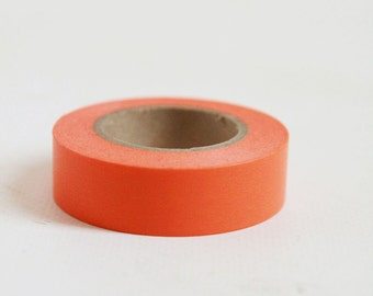 ORANGE Japanese Washi Tape- Single Roll 15mm