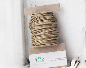 Natural Hemp Twine 15 yards  eco-friendly, sustainable packaging- beautiful neutral tones for tags, jewelry & paper crafts   rustic wedding