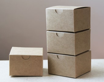 Kraft Natural Gift Box 3x3x2  Lot of 50   || Rustic Wedding Boxes, USB Box, Party Favor Box,  Cuff Link Box, Chocolate Box
