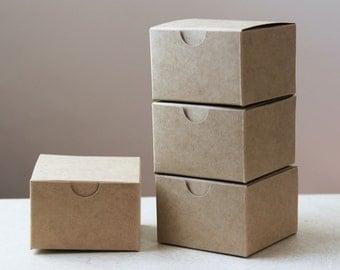 Set of 25 Kraft Natural Gift Box 3x3x2