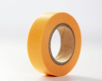 TANGERINE SOLID- Single Roll 15mm