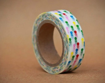 Multi Dot Washi Tape-  Single Roll 15 mm