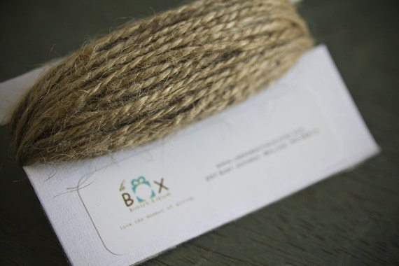 Natural Jute Twine 15 yards  | Home & Garden Supply | Decorative Twine | Wedding Decor | Rustic Home Decor | Rustic Wedding