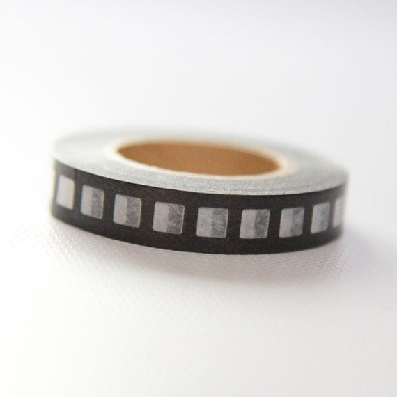 SALE- FILMSTRIP- Single Roll Japanese Washi Tape 10mm