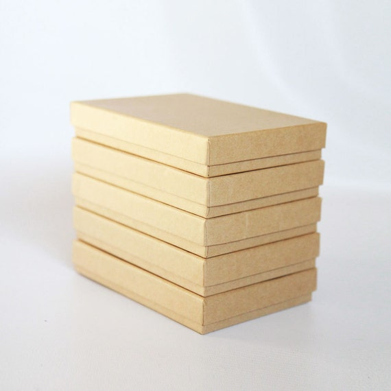 "50- Kraft  Boxes filled with cotton  7-1/8"" x 5-1/8"" x 1-1/8""H   Works great for photography presentation"