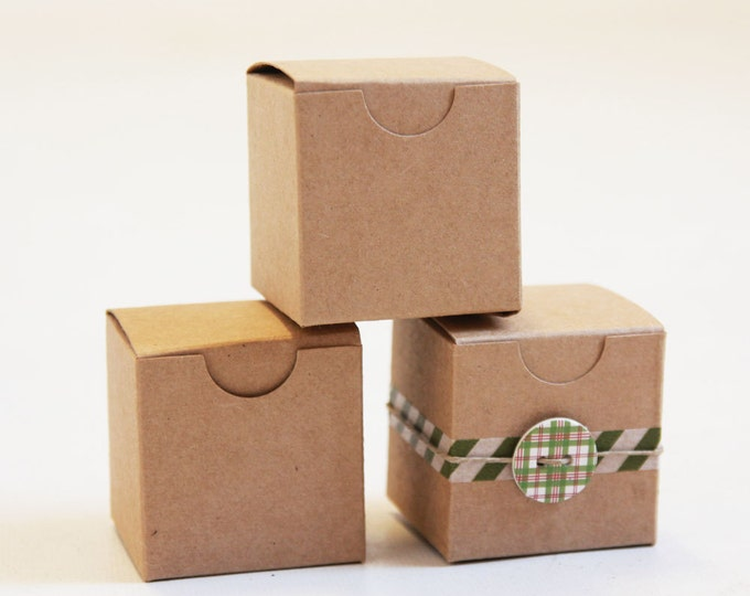 Kraft Natural Gift Box 2 x 2 x 2 Lot of 300