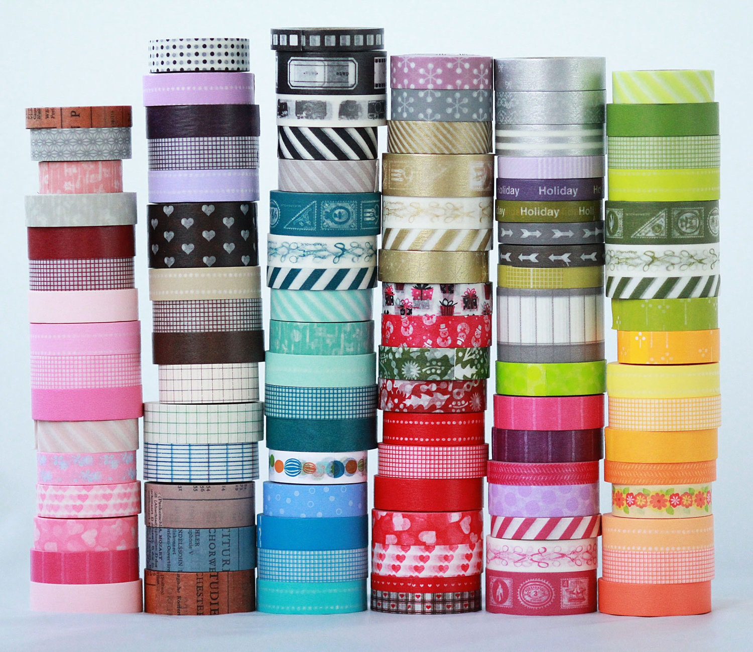 Washi Tape 20 Wooden Spools Japanese Washi Tape Choose The Colors Or Grab
