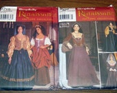 Plus size out of print Renaissance costume uncut pattern lot sz 14-20
