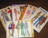 Vintage misses size 10 sewing pattern lot of 5