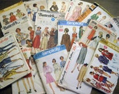 Vintage misses size 16 sewing pattern lot of 15