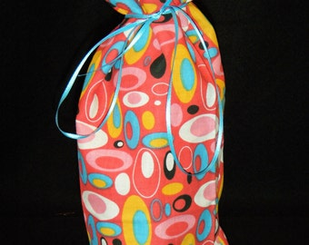 Wine or Liquor Bottle Bag Mod circles