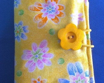 Tea Bag Wallet Yellow Flowers
