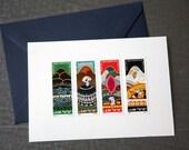 Vintage Postage Stamp Card Set