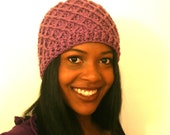 Custom Crochet Diamond Ridge Beanie