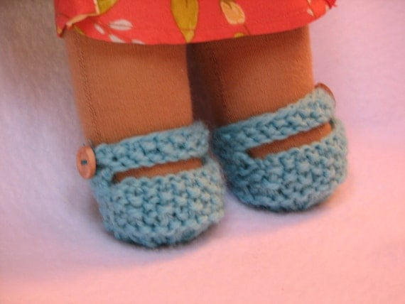 Waldorf Doll Shoes for 10 inch Doll Knit in Any Color MADE to ORDER