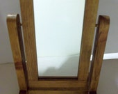 "Wooden Floor Mirror Stand for 18"" doll"