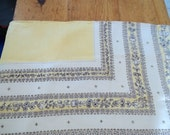 "Vintage Linen Tablecloth Yellow 58""  x 74"""