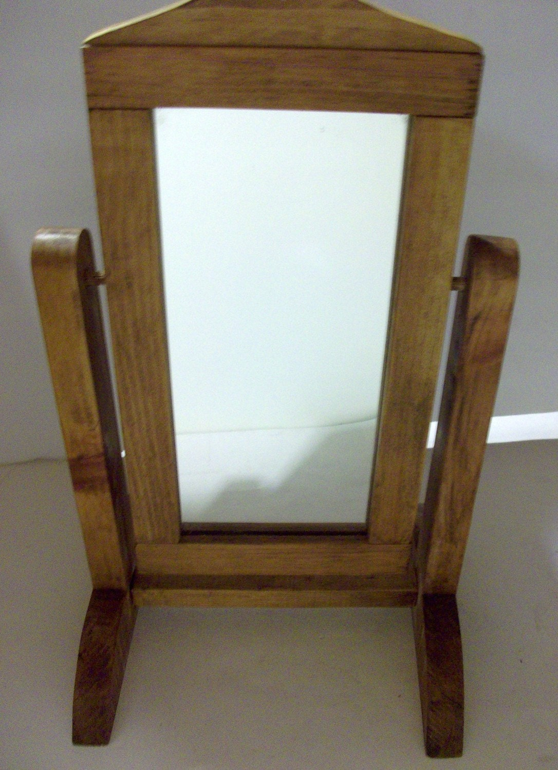 Wooden floor mirror stand for 18 doll by newtwoyou on etsy for Mirror stand