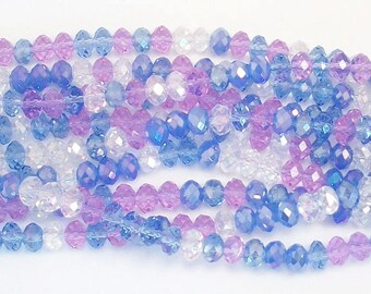 5x8mm Icelander Mix Chinese Crystal Rondelle Beads 20 pcs