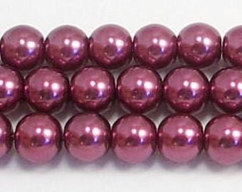 6mm Wine Glass Pearls One strand 6mm glass pearls Swarovski quality at half the price High Quality 6mm glass pearls #6WNGP