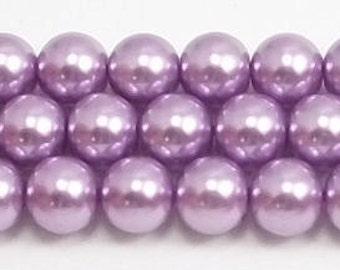 8mm Lavender Glass Pearls Trial Size Packs