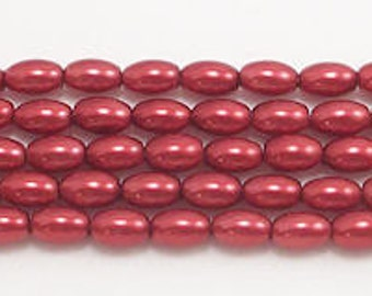 4x6mm Red Rice Beads (approx 65)