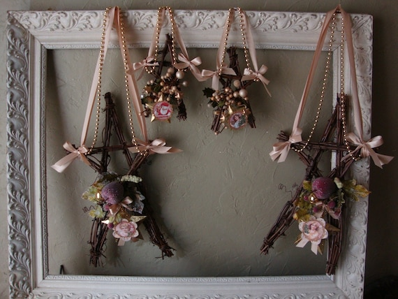 Items Similar To Rustic Christmas Grapevine Wreath Star