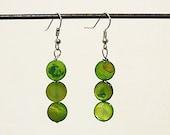 Green Eyed Monster Earrings