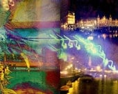 AMSTERDAM -- One of a kind digital print on rice paper.