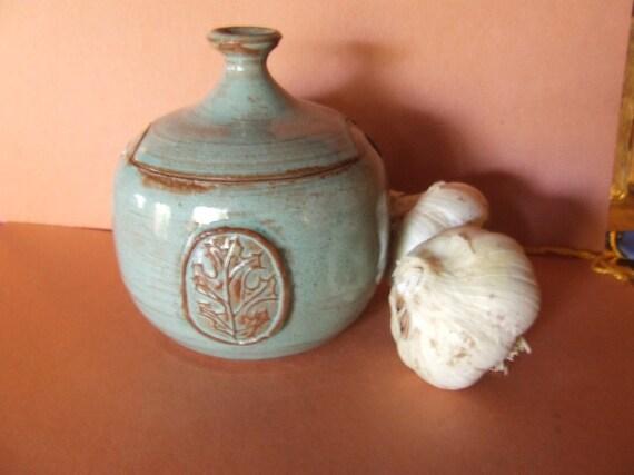 Stoneware Garlic Jar