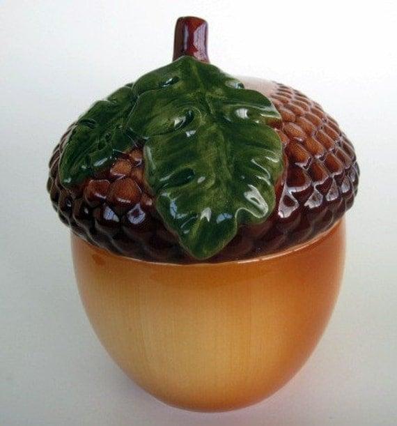 Ceramic Acorn Jar