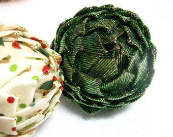 pine cone ornament, green, brown, Christmas keepsake