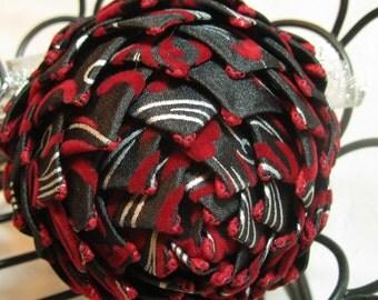 unique ornament red and gray
