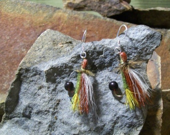 Montana Flyfishing Fly Sterling Silver Earrings, Fly Fishing Sterling SIlver Earrings