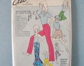 Vintage 60s Else 100 All in One Pants Pattern Hip Size 32-44