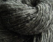 Bulky Gray Wool Yarn Upcycled Yarn