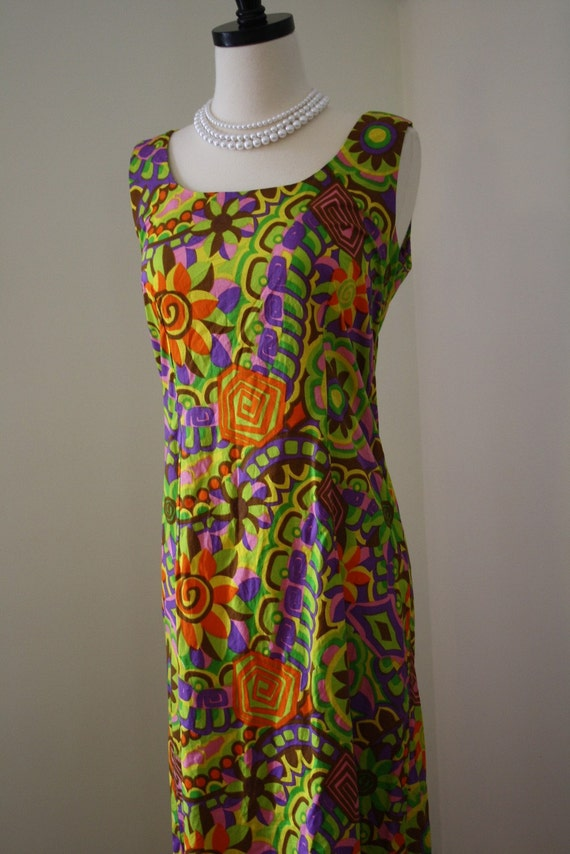 60s maxi dress / sundress hawaiian tropical cruise vacation