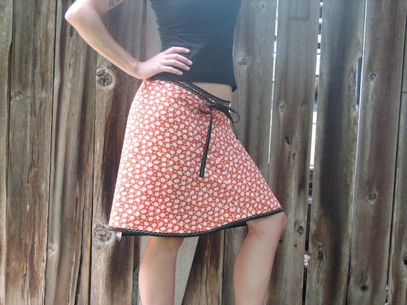 Bright Orange Wrap-a Round Skirt