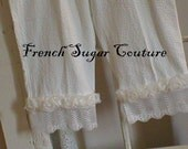 Altered Couture - French Sugar Parisian Pantaloons - Summer White Cotton